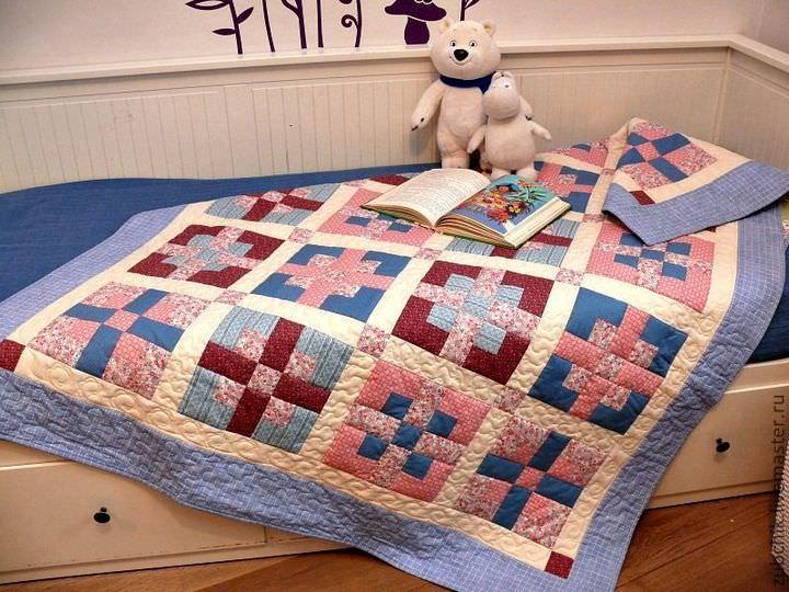 Детское одеяло или покрывало может оказаться намного сложнее в исполнении