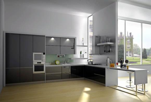 Кухня-столовая в стиле хай-тек является модным дизайнерским решением