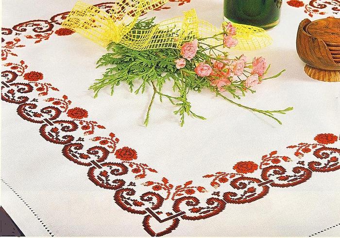 Новичку в вышивании крестиком лучше начать с простых узоров