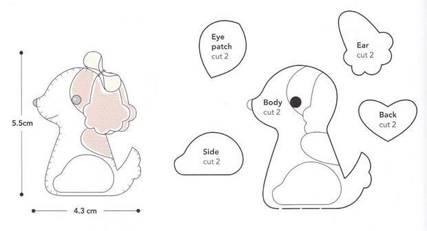 Выкройки, пошаговая инструкция, инструменты и шерсть - входят в набор для валяния игрушек