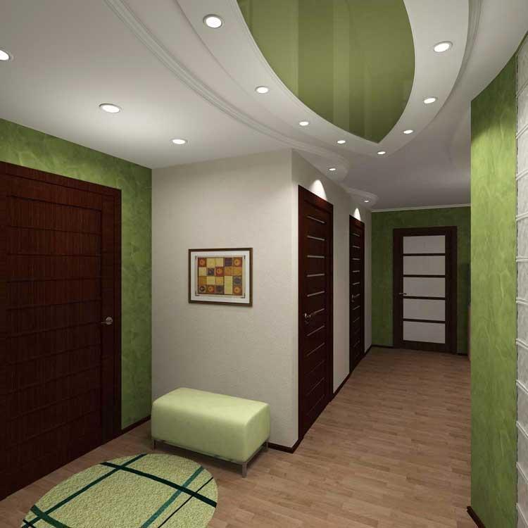 Украсить коридор и прихожую можно при помощи оригинального коврика и красивой картины