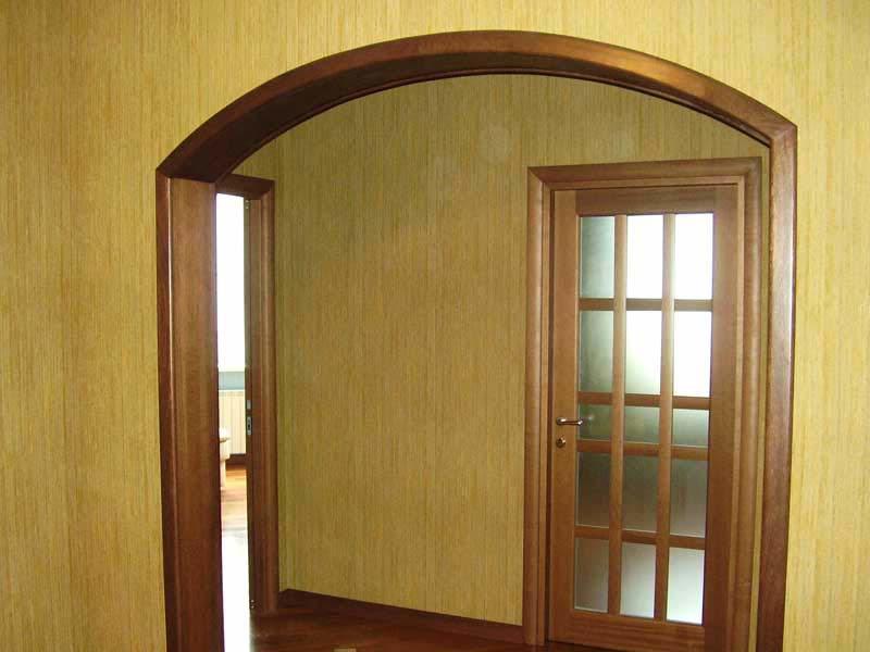Арку можно установить вместо двери