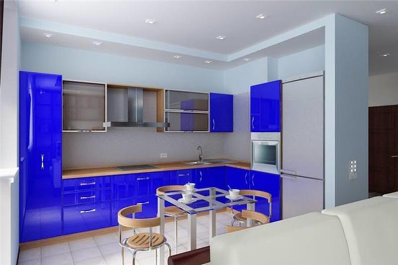 Совмещение кухни с другим помещением сделает ее более просторной