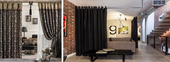 Шторы в комнату: фото, межкомнатные, зонирование своими руками, в маленькую, дизайн, красивые занавески, с бирюзовыми, студии, видео