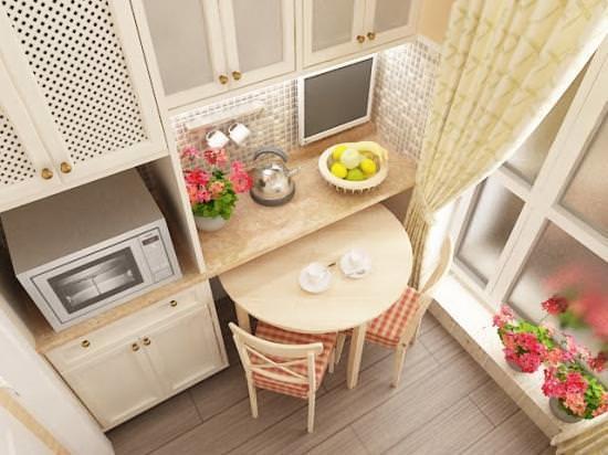 Выдвижным может являться и обычный обеденный стол, если для него предусмотрена специальная ниша