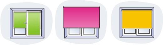 Рулонные шторы для кухни могут быть различного типа, поэтому, перед тем как производить замеры, необходимо определиться с дизайном