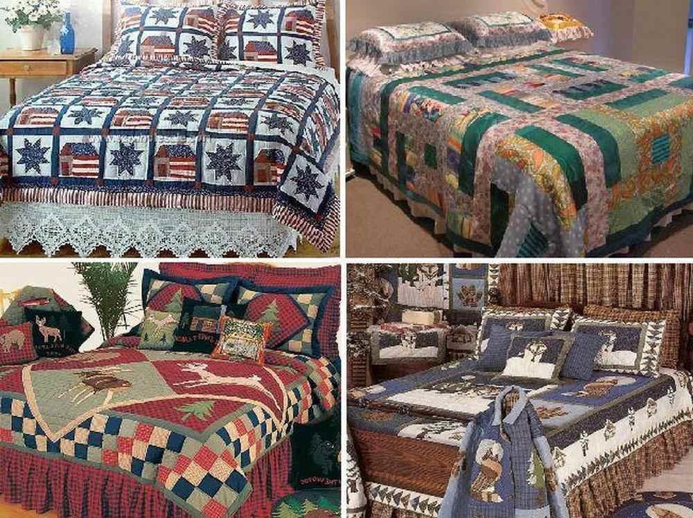 Одеяло или покрывало можно сшить из простых квадратов или сложных заготовок