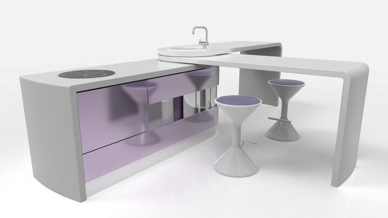 Недостаток трансформирующейся кухонной мебели в необходимости постоянной уборки выдвижных модулей