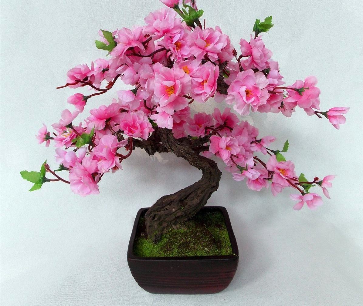 Топиарий из фоамирана в виде сакуры является отличным подарком для человека, который увлекается восточной культурой