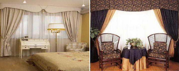 Жесткая основа ламбрекена бандо позволяет добиться целостности композиции интерьера комнаты и окна