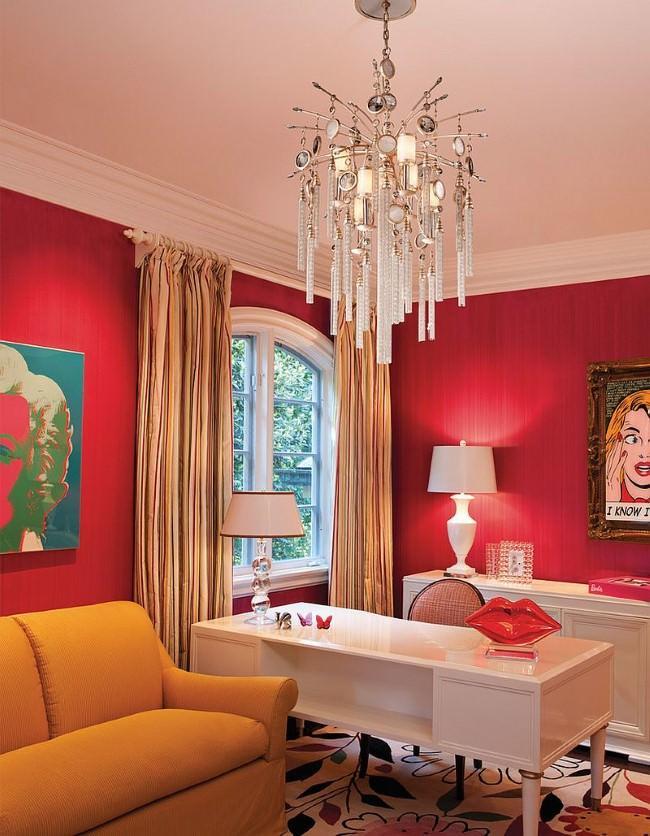 Грамотно используя красный цвет, можно создавать очень стильные интерьеры