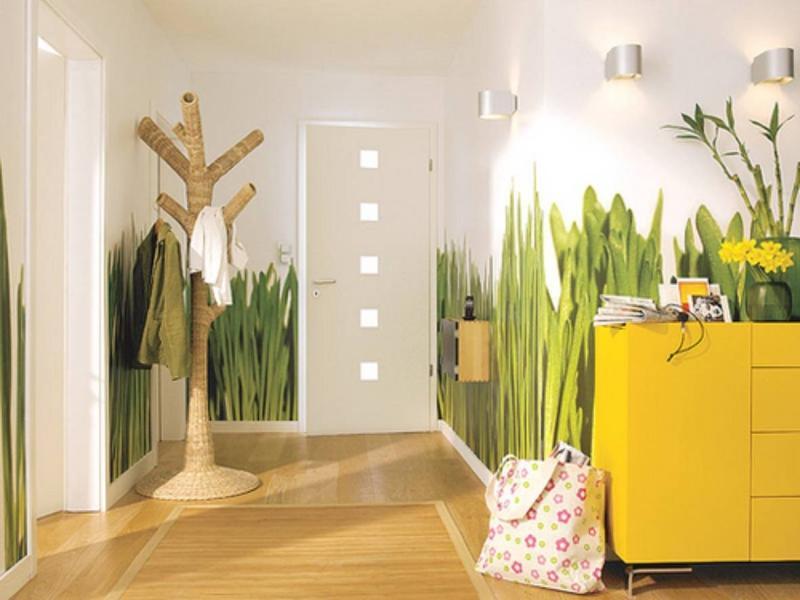 Если вы хотите сделать интерьер прихожей и коридора уникальным и нестандартным, тогда дизайнеры рекомендуют декорировать стены яркими рисунками