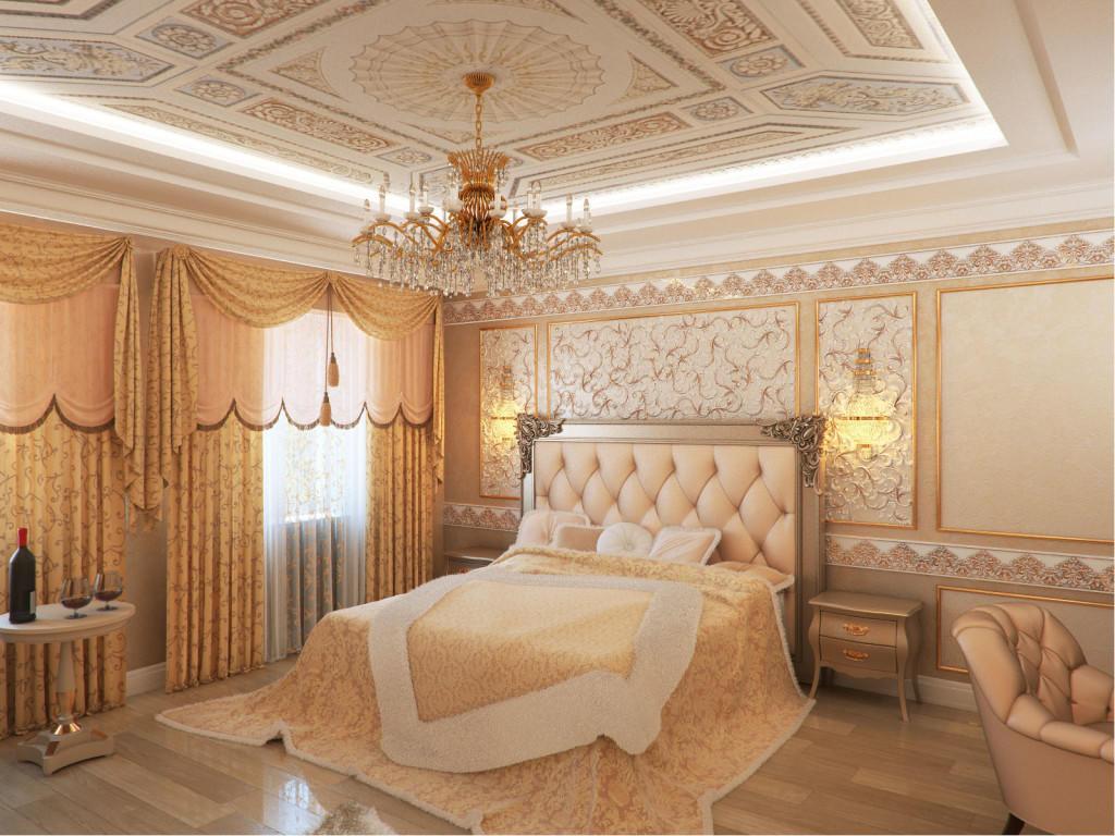 В самых красивых спальнях обычно используют балдахины, римские и японские шторы