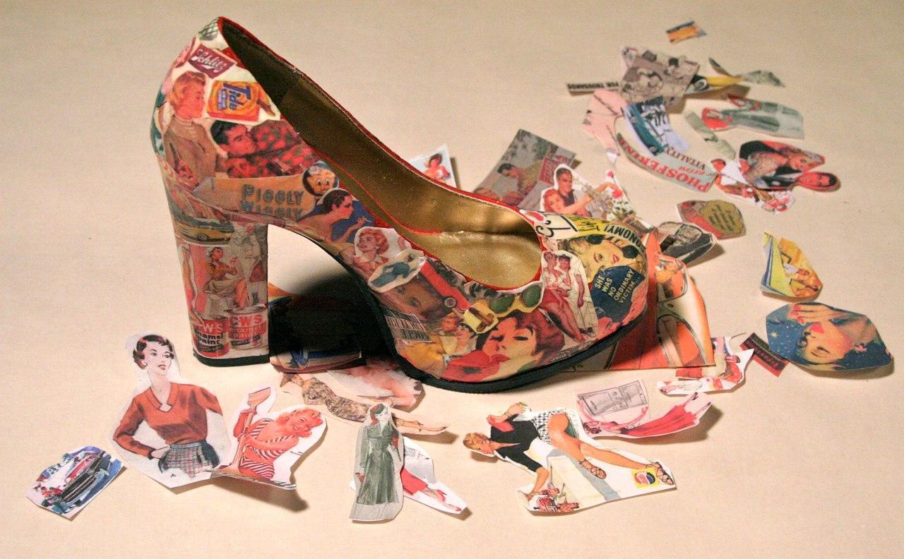 Декупаж необходимо делать по инструкции и не торопиться: тогда обувь будет смотреться необычно и красиво