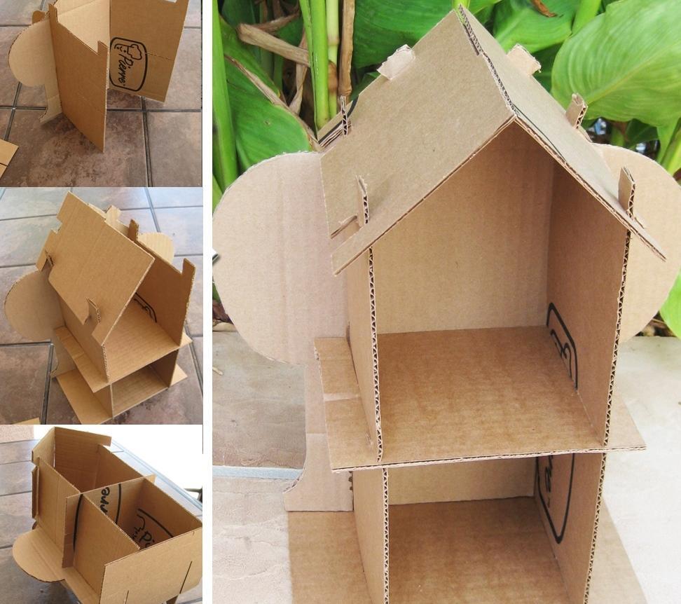 Подыскать схему оригинального домика можно на просторах интернета