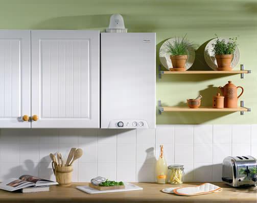 Кухня с газовой колонкой может выглядеть очень привлекательно