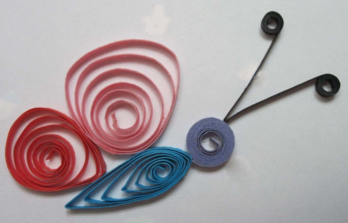 В детском саду начинать изучать технику квиллинг следует из создания самых простых композиций без сложных элементов