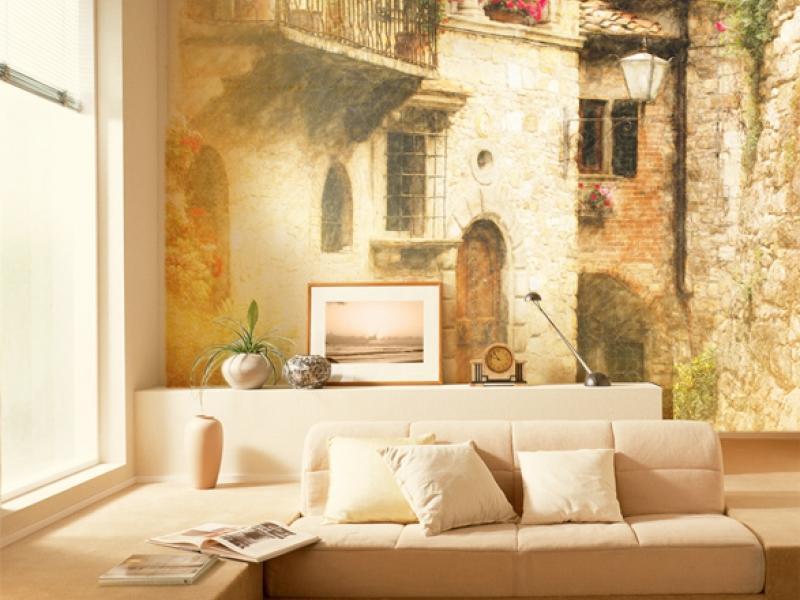 Фрески в интерьере гостиной фото: на стену в зале, дизайн с мозаикой