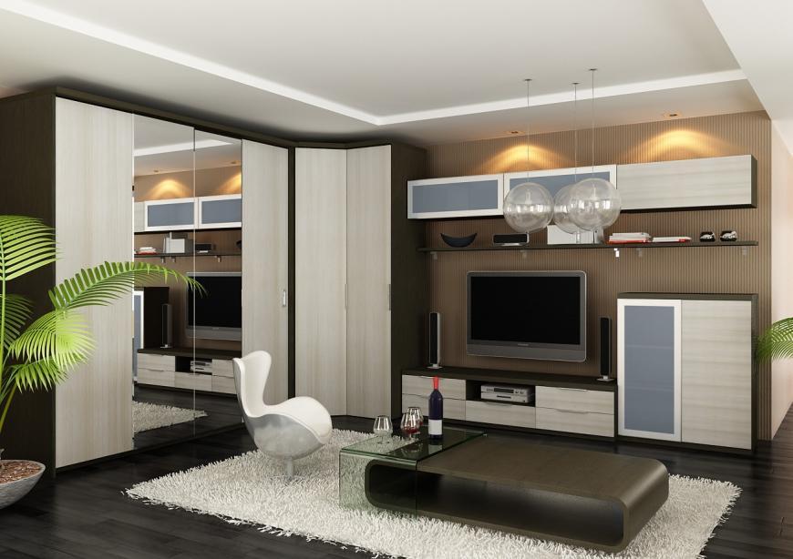 Подбирая угловой шкаф, необходимо учитывать размеры и особенности вашей гостевой комнаты
