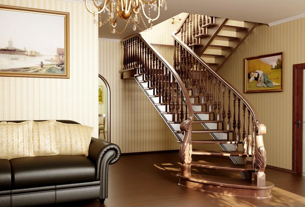 Ознакомиться с интересными вариантами поворотных лестниц вы можете в интернете