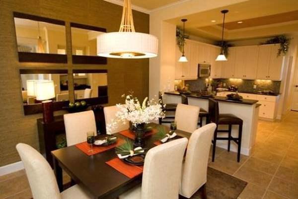 Соединение гостиной и кухни дает возможность обустройства дополнительного помещения