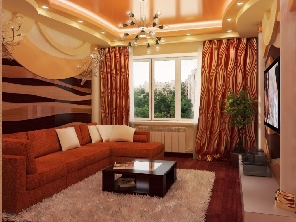 Добавить уюта гостевой комнате можно при помощи красивого углового дивана и небольшого столика