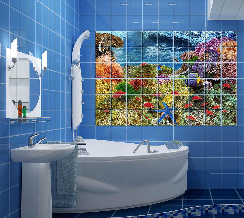 Если покрыть декорируемую поверхность ванной комнаты водоотталкивающим лаком, то любимые узоры будут вас радовать своей красотой много лет