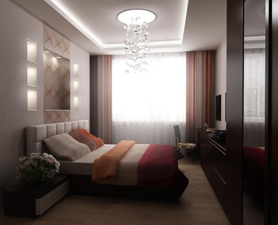 В спальную комнату маленьких размеров необходимо выбирать качественную мебель, учитывая габариты помещения