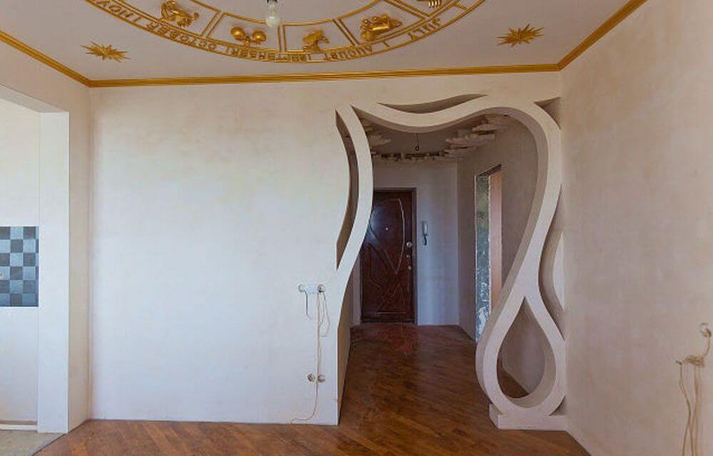 Дверной проем из гипсокартона делается в несколько этапов