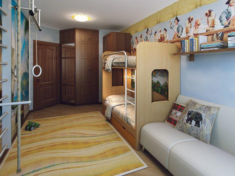 Для того чтобы спальня стала уютным местом для двух детей, следует правильно зонировать пространство
