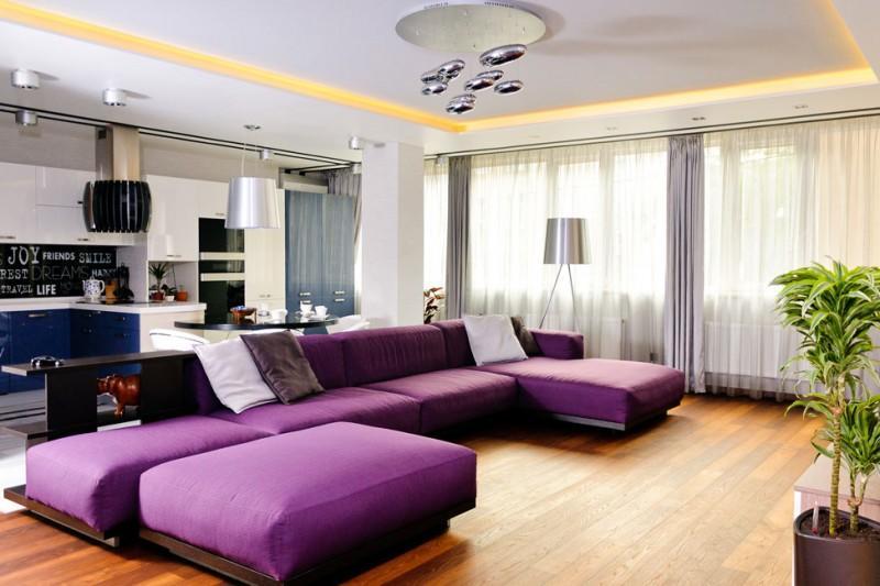Чтобы красиво оформить зал, запомните, что лучше всего его не загромождать мебелью