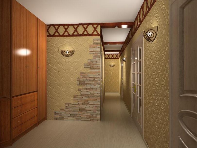 Прекрасно в интерьер прихожей впишется красивый деревянный шкаф