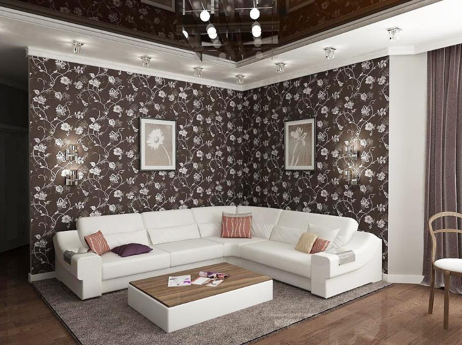 Декоративные элементы должны выделятся, а не сливаться с интерьером, как картины с обоями на изображении