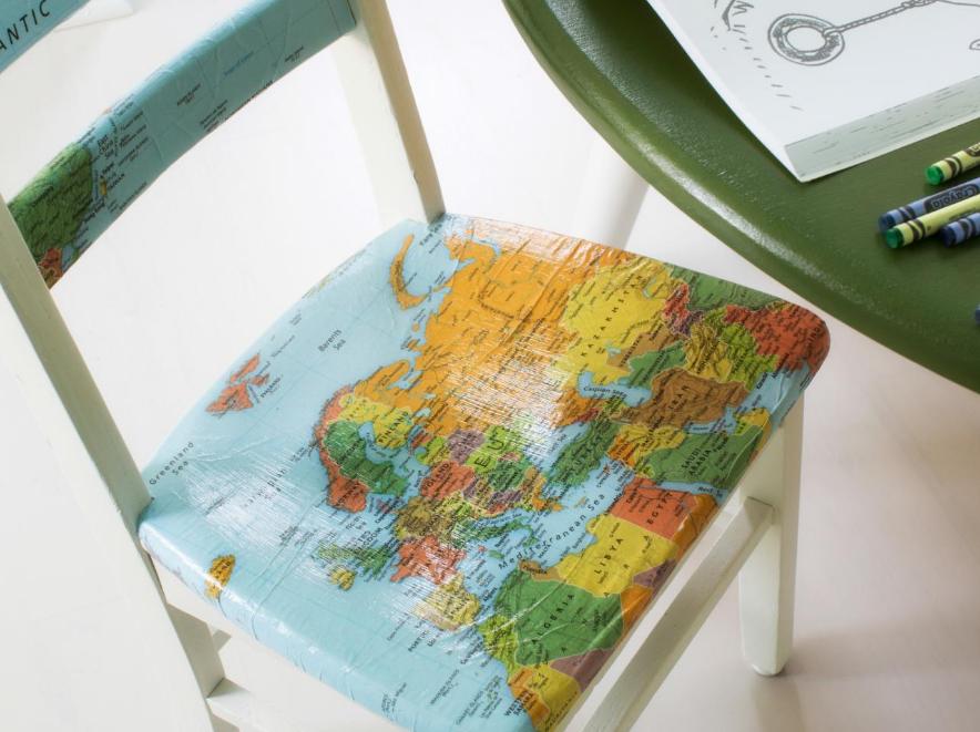 Среди новых идей для декупажа стоит отметить украшение стула оригинальным рисунком
