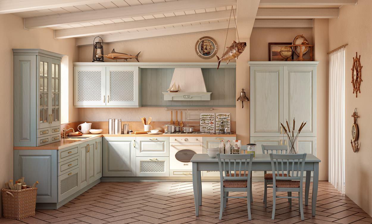 Кухня в стиле кантри - это минимум металла и пластика, что создает особую атмосферу уюта