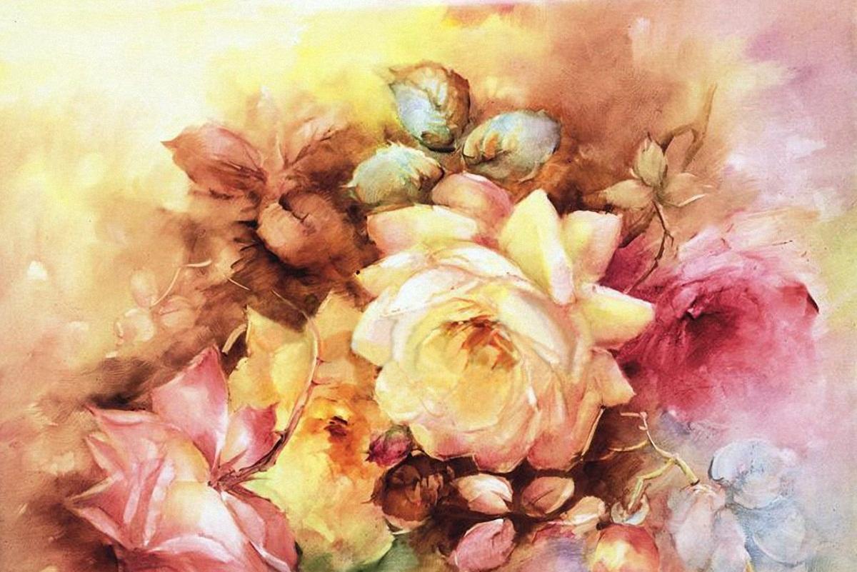 Нарисованные картины широко применяются в декупаже благодаря их отличным эстетическим свойствам