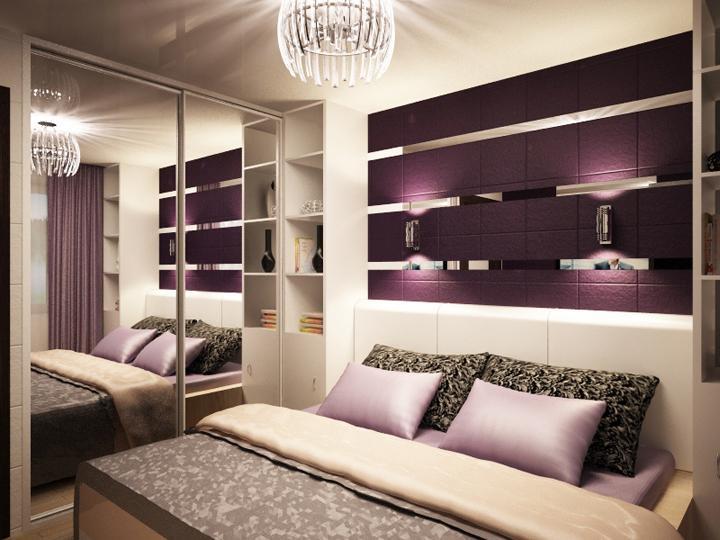 Чтобы спальня 14 кв.м выглядела идеально, в отделке стен и потолка должны преобладать светлые тона, а на окнах не должно быть массивных штор