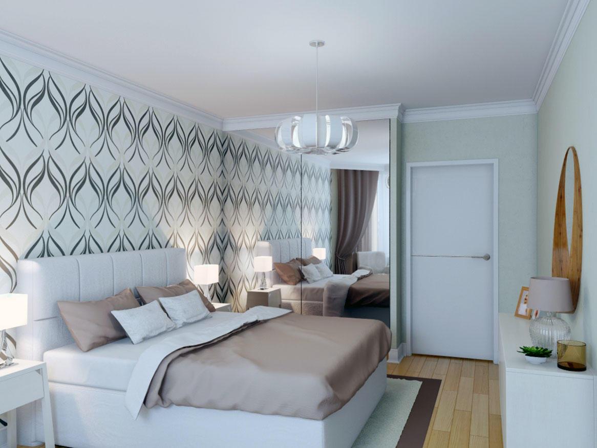 В качестве декора для спальни отлично подойдет ваза или фотография, вставленная в рамку