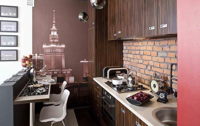 Невозможно осуществить отделку стен на кухне без предварительного определения ее функциональных зон