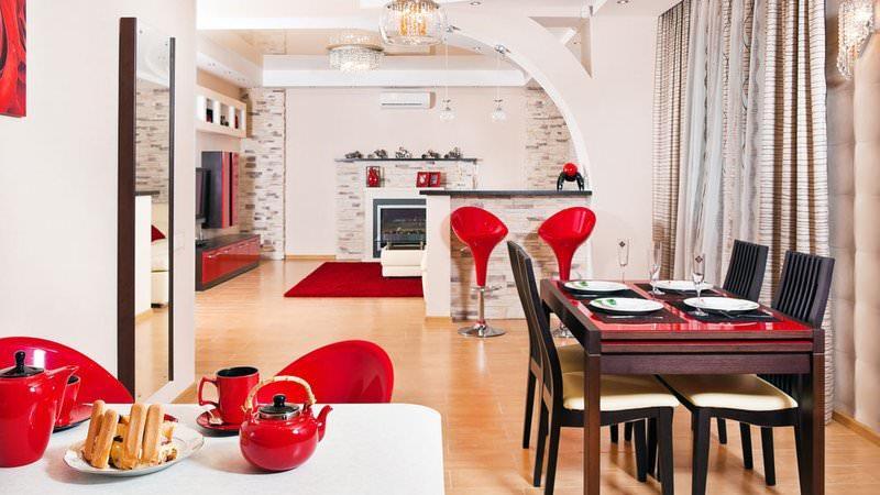 Зонирование на кухне 20 кв. м позволяет организовать большое пространство наиболее грамотно. К тому же, визуально зонированное пространство выглядит более привлекательно