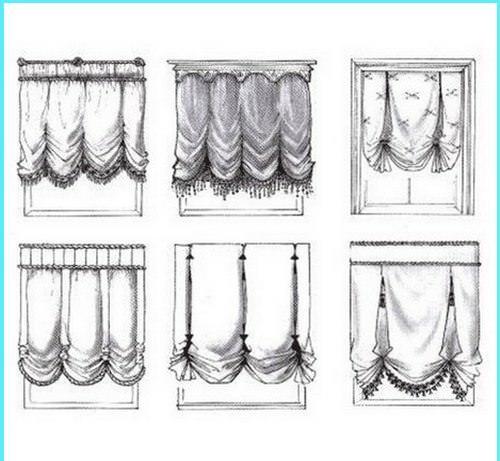 Выкройка французских штор изготавливается, согласно составленному ранее эскизу