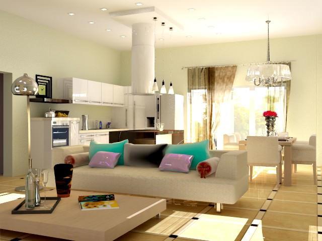Для совмещения кухни с гостиной необходимо получить разрешение на снос стены и подвод коммуникаций