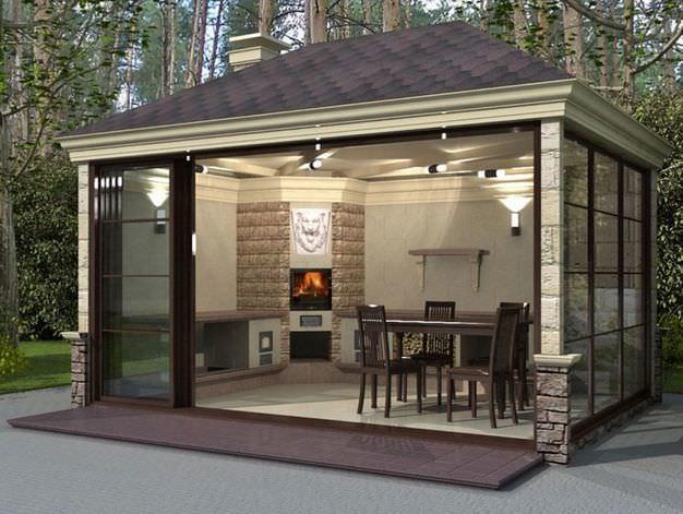 Удобство использования летней кухни на <em>летняя кухня в частном доме фото</em> участке неоспоримо в своих преимуществах
