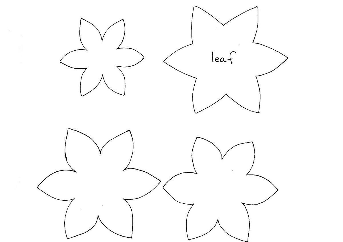Скачать шаблоны для цветов из фоамирана
