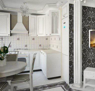 Оформление кухни и гостиной в едином стиле поможет визуально расширить площадь помещения