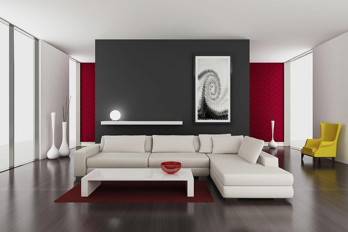 Недопустимо использовать несколько видов полотен с декоративными эффектами – броские узоры, дополненные эффектом перелива, обои с крупным рельефным рисунком