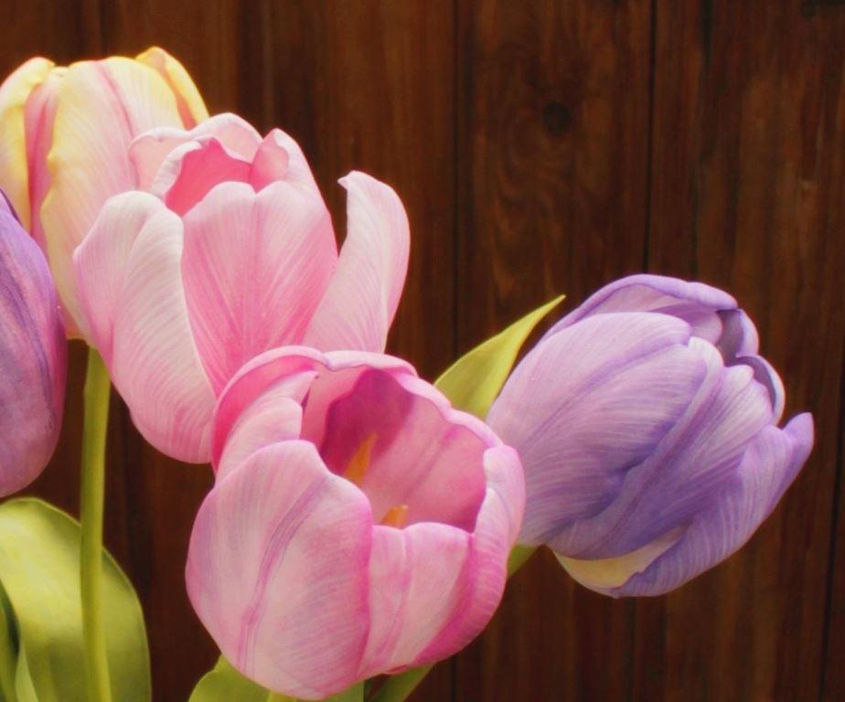 Для того чтобы смастерить тюльпаны своими руками, предварительно следует приобрести фоамиран разных цветов, проволоку и другие материалы, которые могут пригодиться в процессе работы