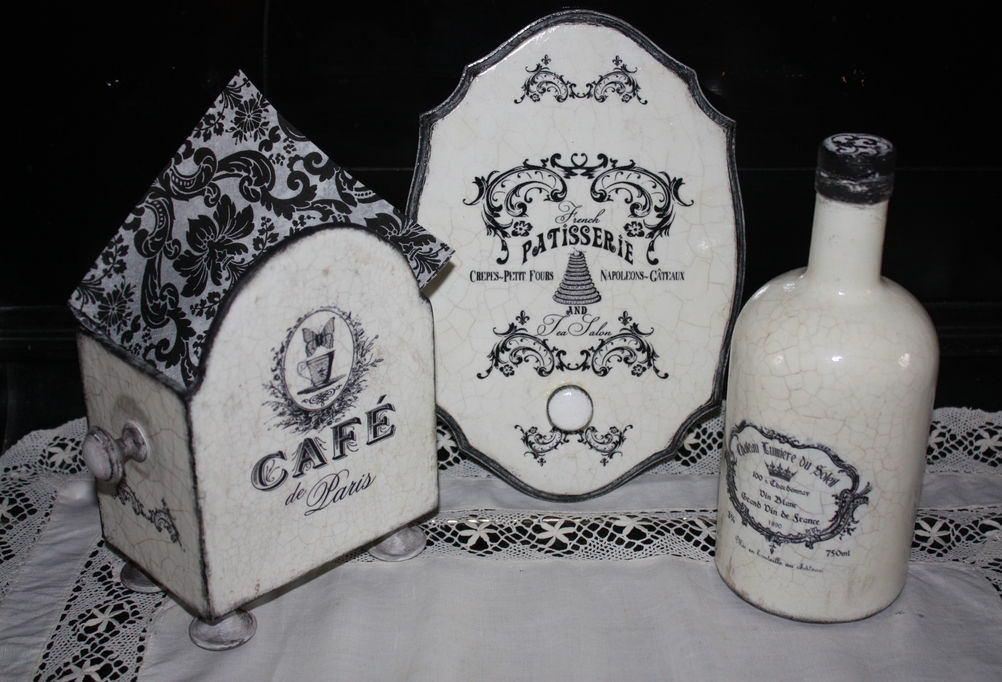 Декупаж в стиле ретро отлично подходит для декорирования бутылок, коробок, шкатулок и других предметов декора