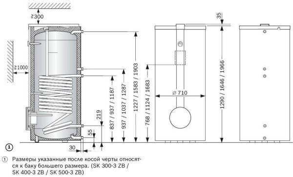 Схема бойлера косвеннного нагрева