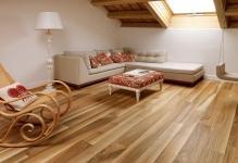 Ламинат в деревянном доме